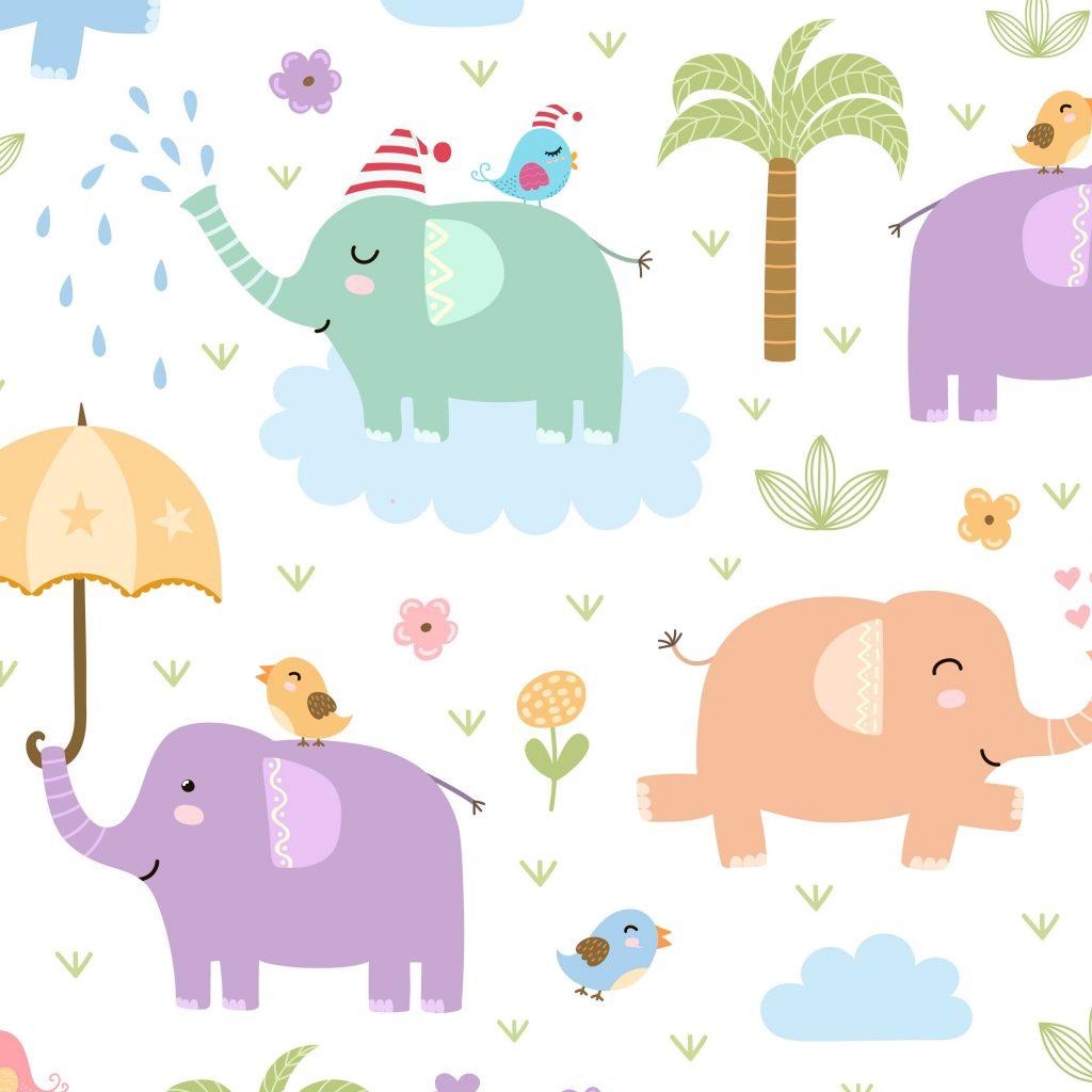 Elefantes lluvia