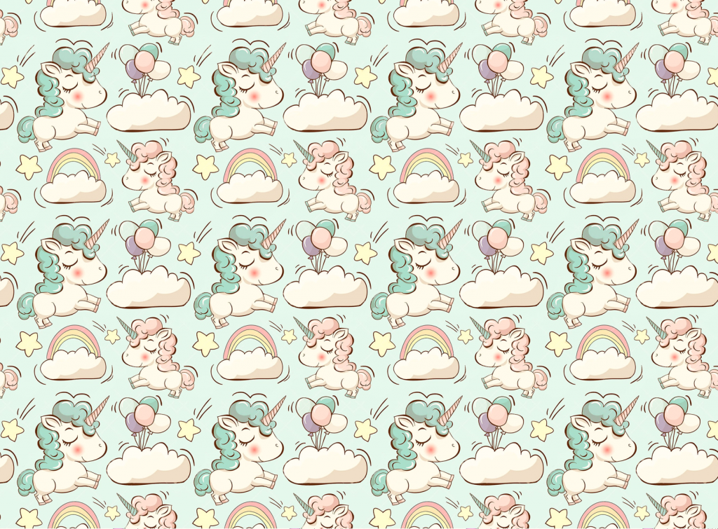 Cute unicorns mint