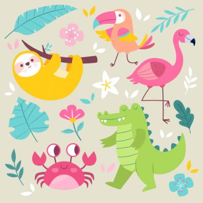 Animales de colores